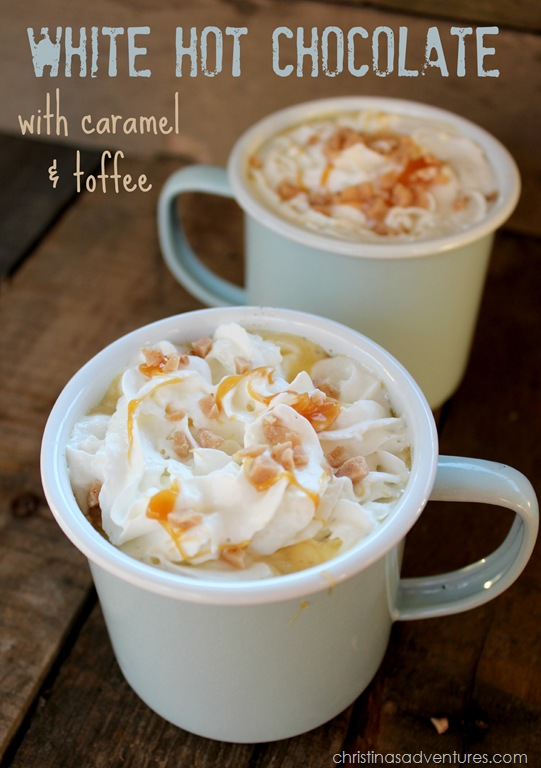 White Hot Chocolate with Caramel & Toffee