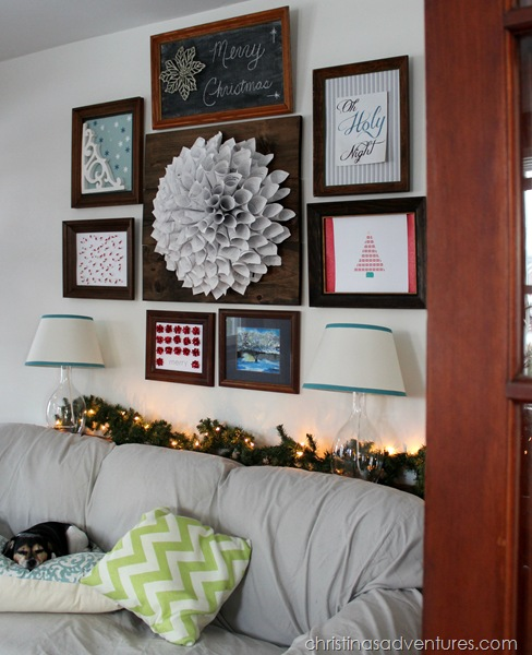 Christmas Gallery Wall with Wooden Frames