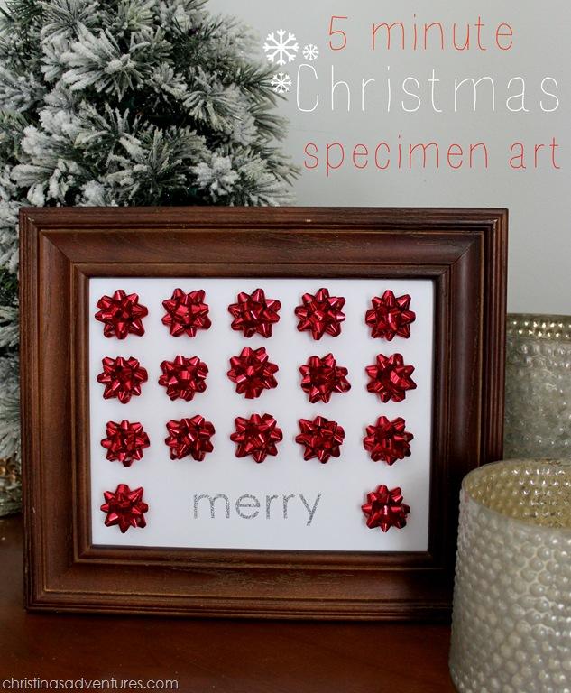 Quick Diy Dollar Tree Bathroom Decor 2 For 5 Youtube: Easy Christmas Craft {specimen Art}