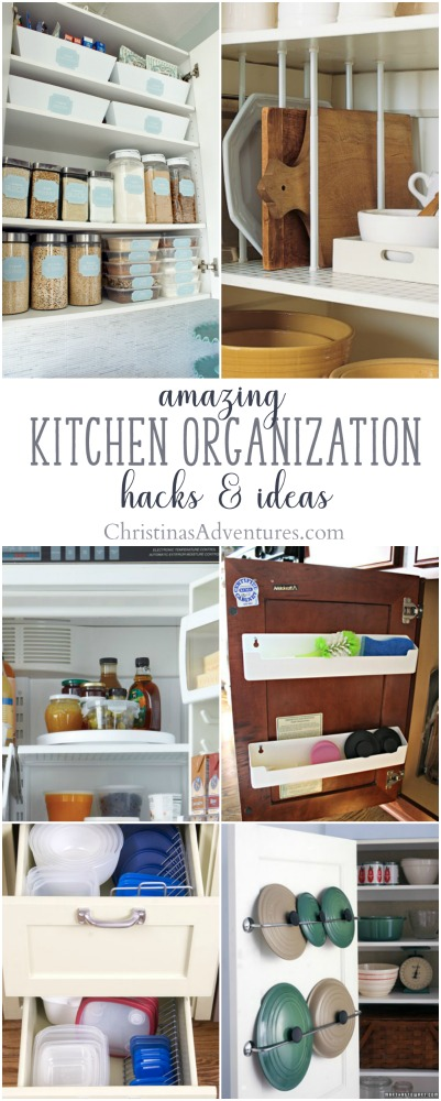 14 very clever kitchen organization ideas and hacks that will help to maximize storage in your kitchen and help you get organized (and STAY organized)