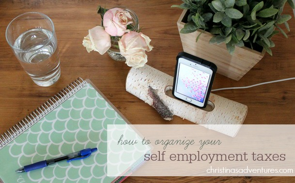 how to organize your self employment taxes