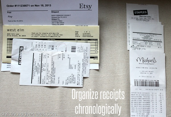 small business taxes receipts