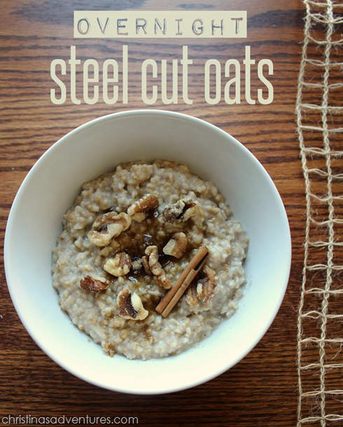 This is a combination of my two favorite recipes for steel cut oats ...