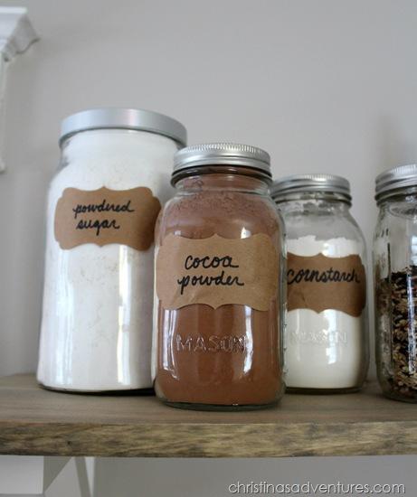 labels on glass jars