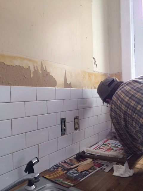 Kitchen Update Backsplash Plank Wall Christinas