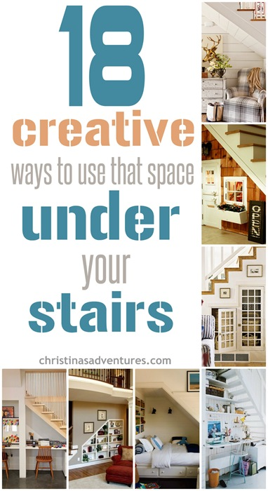 18 creative ways to use the space under your stairs