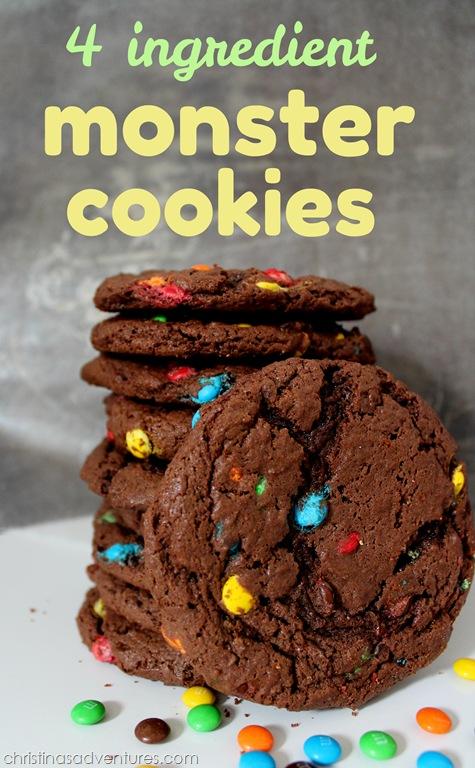 4 Ingredient Monster Cookies