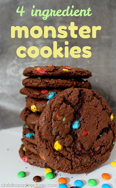 4 Ingredient Monster Cookies