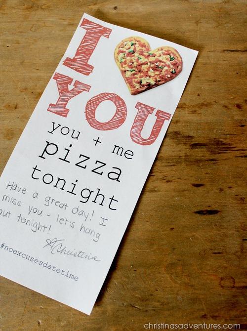 Pizza Night Invitations #NoExcusesDateTime