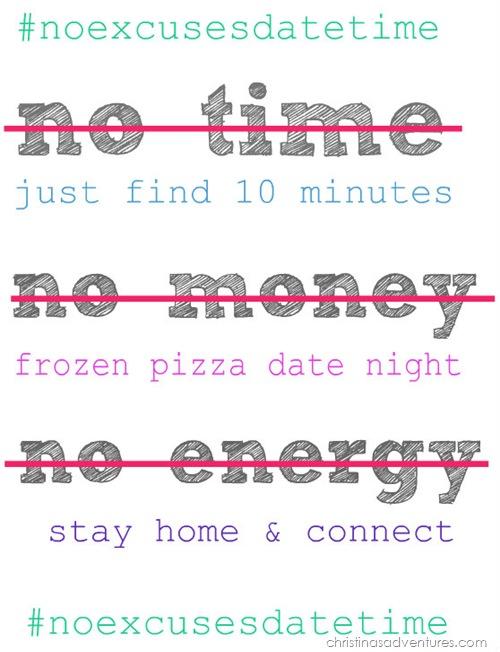 #noexcusesdatetime