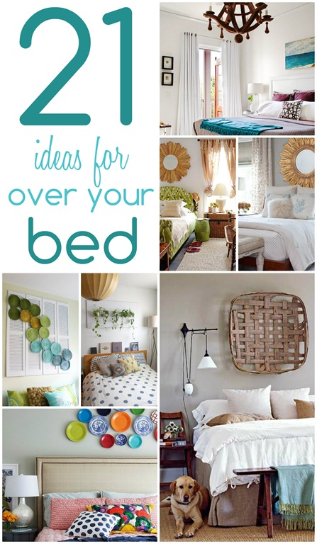 21 ideas for decorating over your bed , Christinas Adventures