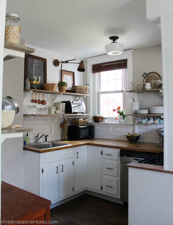 Small Kitchen Renovations On A Budget our kitchen: all the details & the final cost - christinas adventures