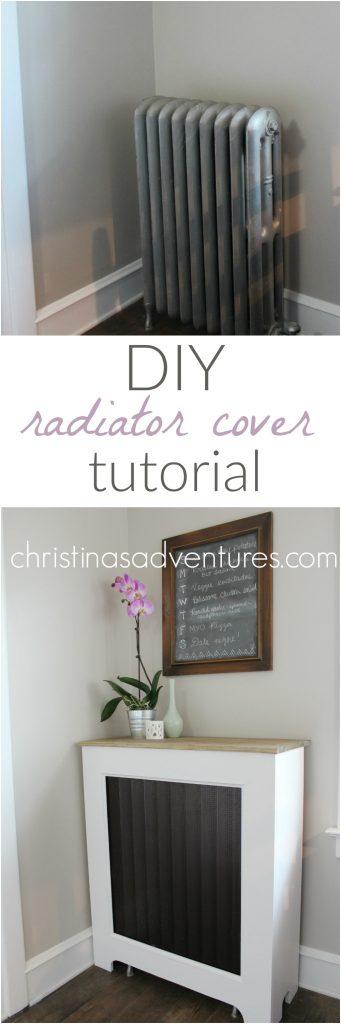DIY radiator cover tutorial