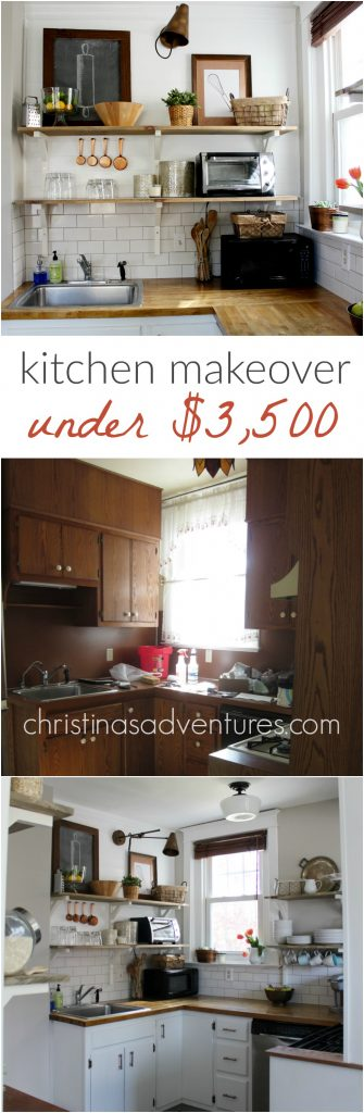 kitchen makeover done under $3,500! What an incredible inspiration