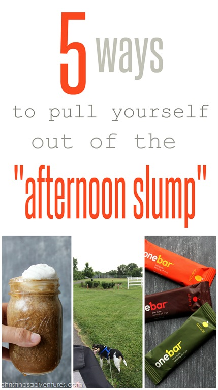 """5 ways to pull yourself out of the """"afternoon slump"""" {OneBar Giveaway}"""