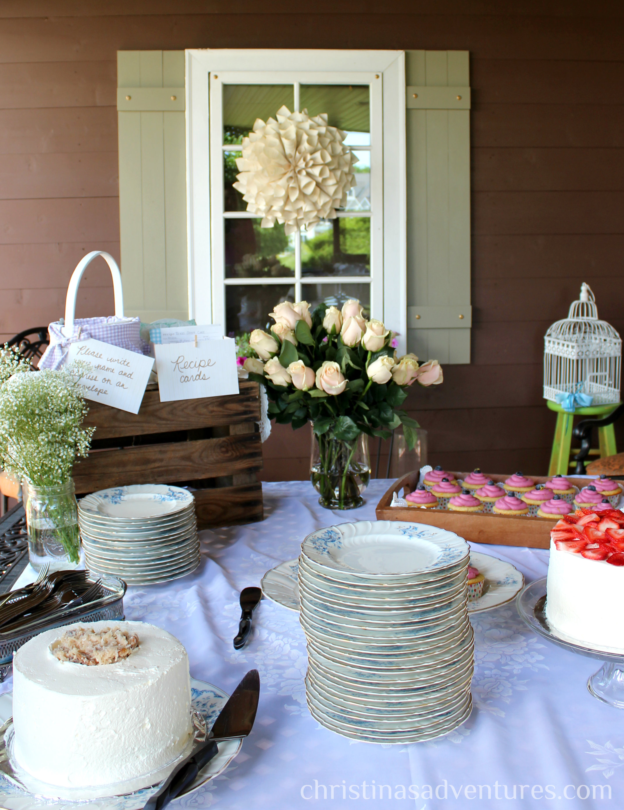 f2db59fb22c Vintage Bridal Shower - Christinas Adventures