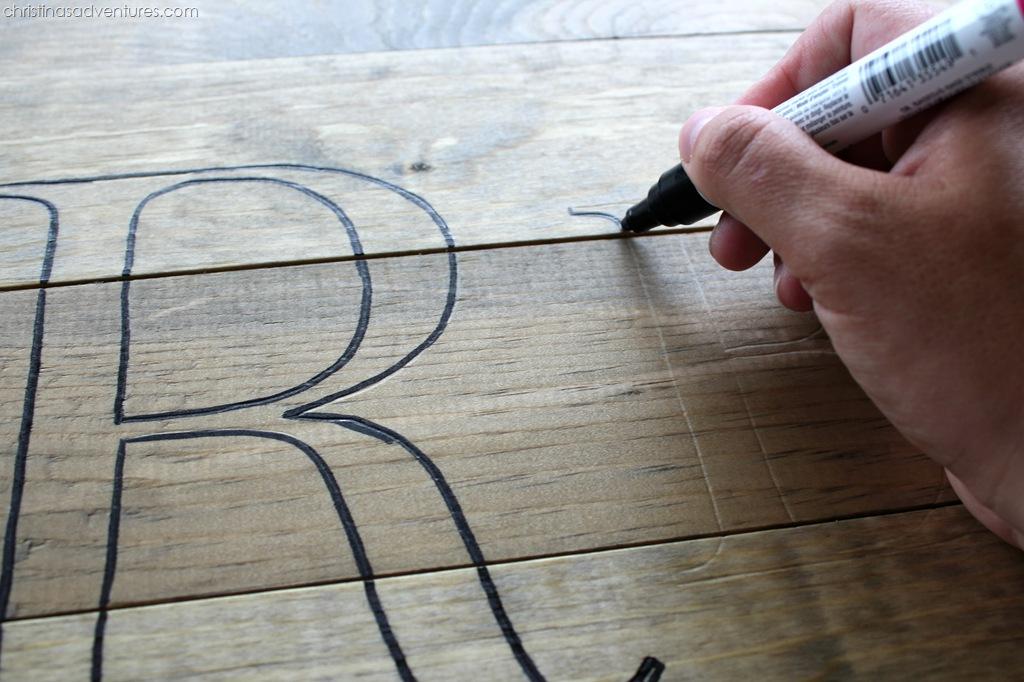 Rustic Wood Monogram Christinas Adventures