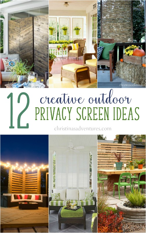 Outdoor privacy screen ideas christinas adventures for Yard privacy screen ideas