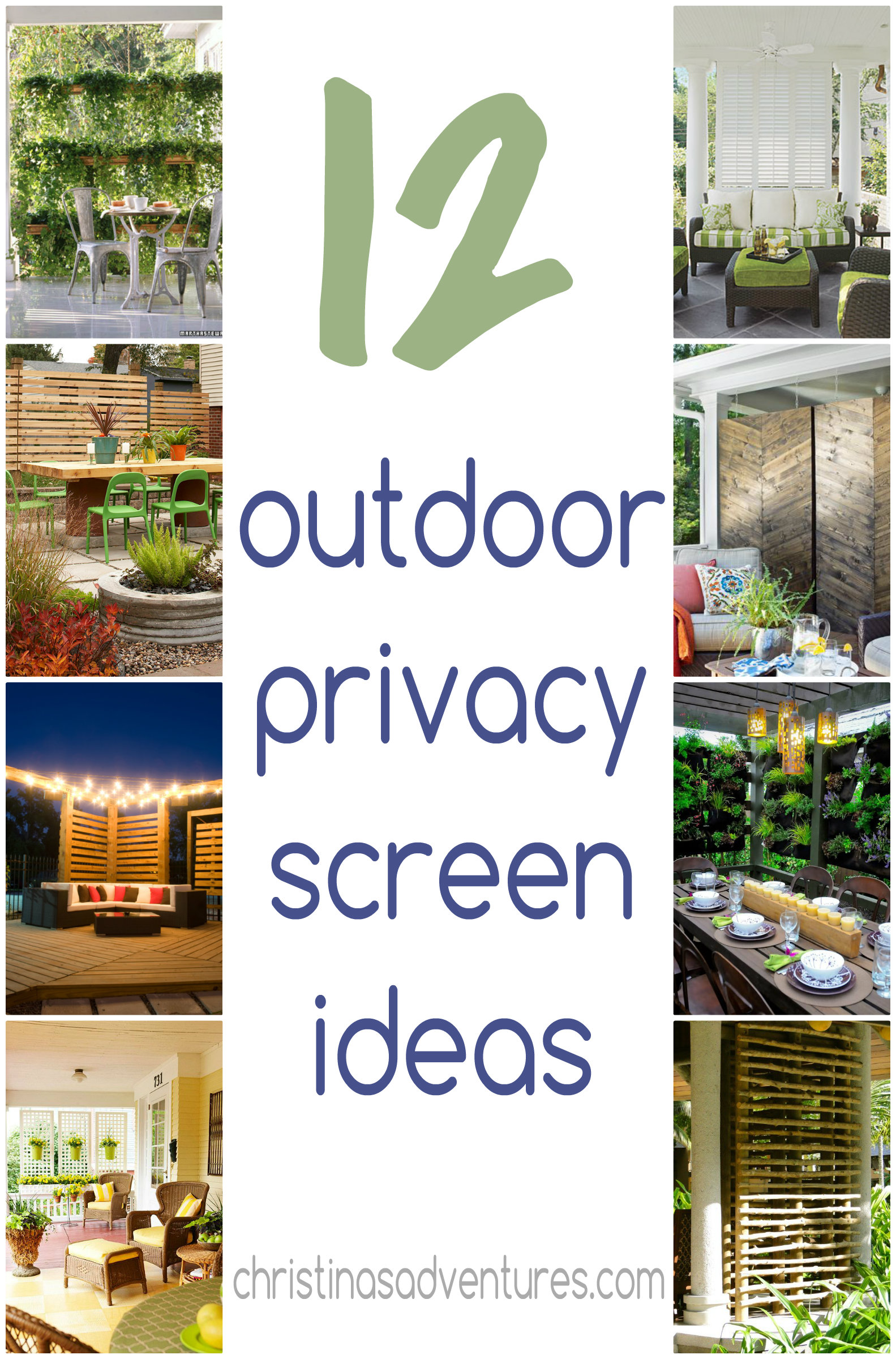 outdoor privacy screen ideas christinas adventures