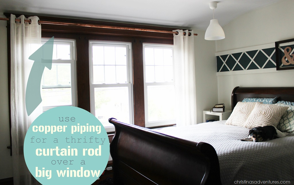 Thrifty Copper Pipe Curtain Rod Christina Maria Blog