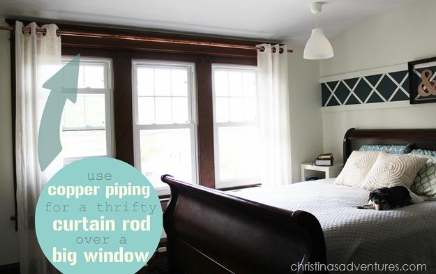Copper Pipe Curtain Rod