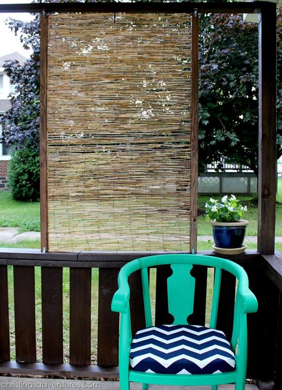 Diy bamboo privacy screen christinas adventures for Outdoor bamboo privacy screen