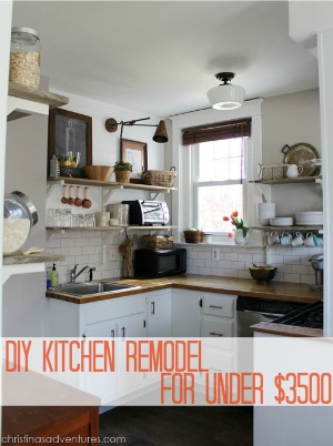 DIY Kitchen Remodel Under $3500  |  Christina's Adventures