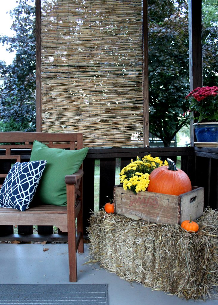 Steps & pictures to help you make your own DIY bamboo privacy screen. It's simple, thrifty and makes a very stylish impact on an outdoor space on a small budget.