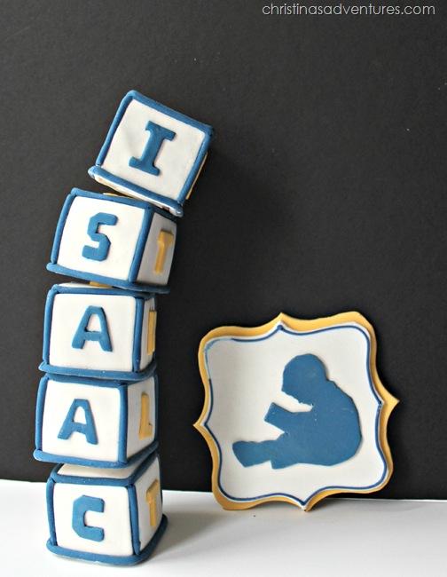 Letter block cake topper