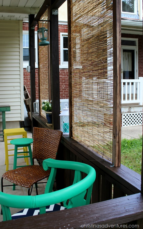 DIY Bamboo Privacy Screen - Christinas Adventures
