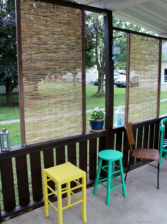Diy bamboo privacy screen christinas adventures for Privacy screen ideas for backyard