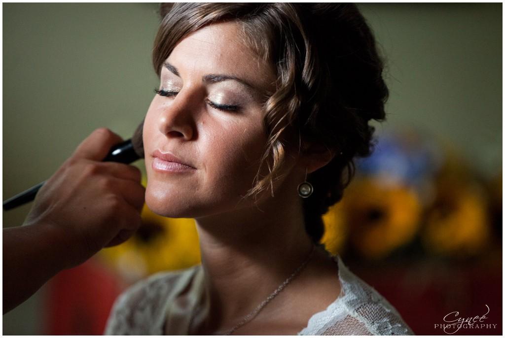 simple summer wedding makeup