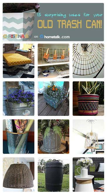 trash can upcycles