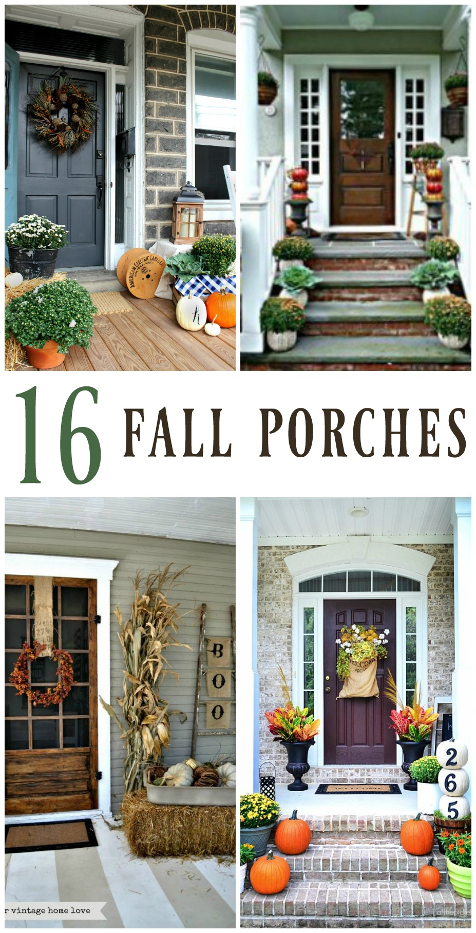 16 Inspiring Fall Porch Decorating Ideas Christinas