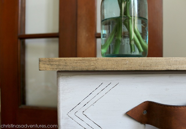 Arrow Detailing on small end table