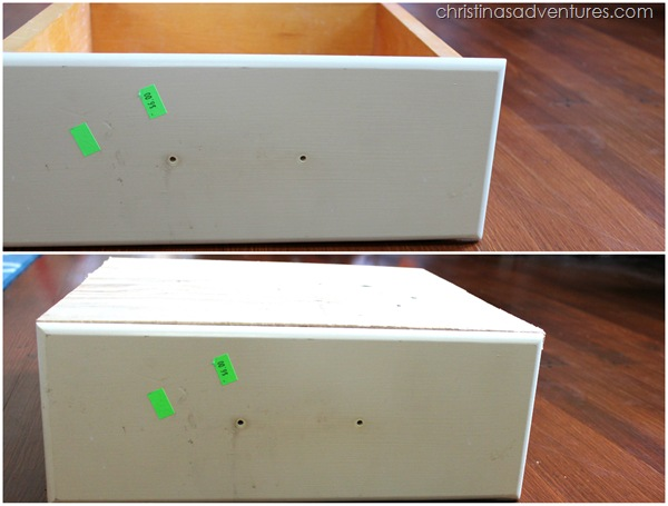 Cover an old drawer with plywood