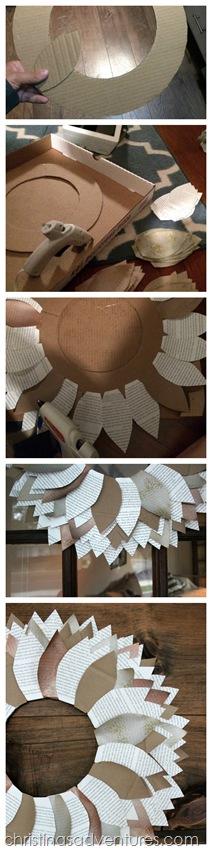 How to make a paper leaf wreath