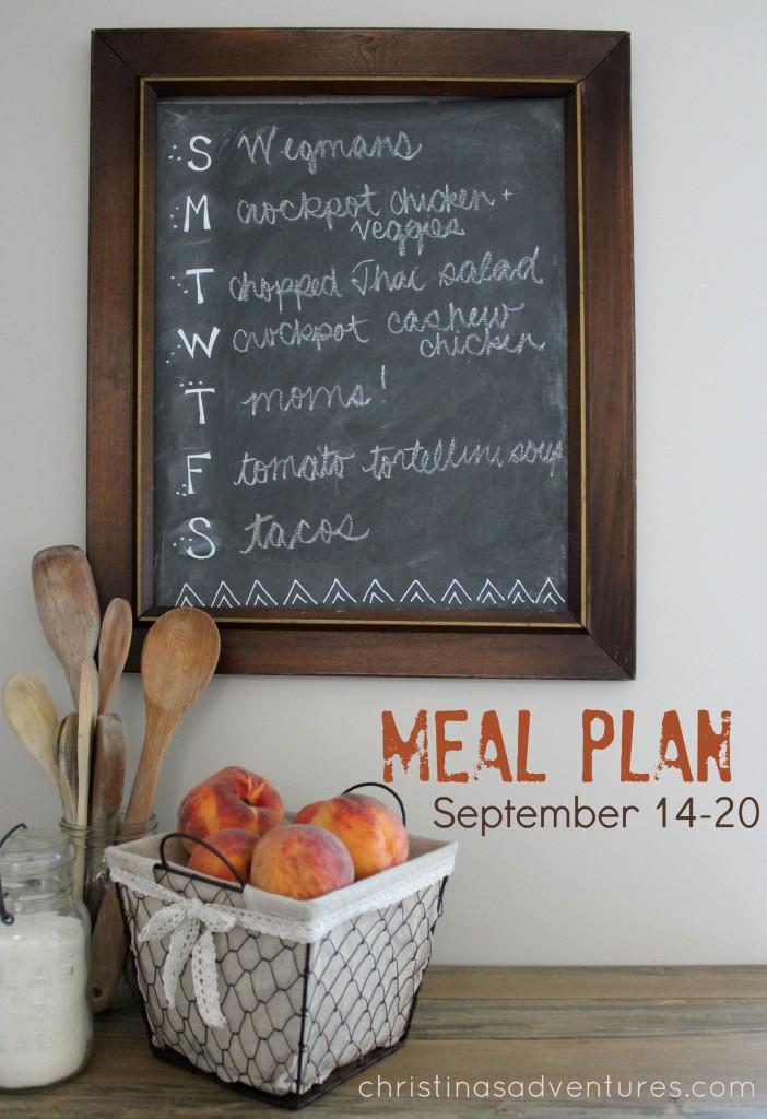 Meal Plan September 14-20