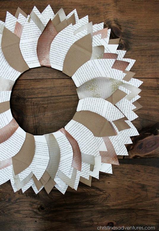 Paper Leaf Wreath Tutorial
