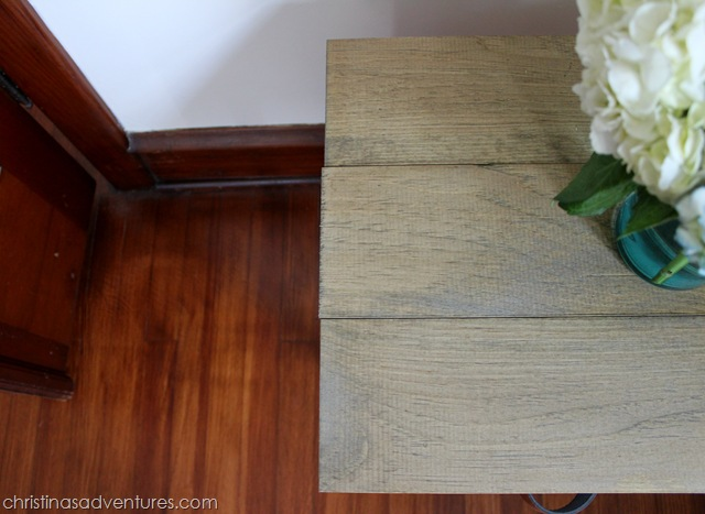 Wood top end table