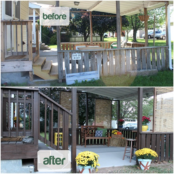 before and after back deck