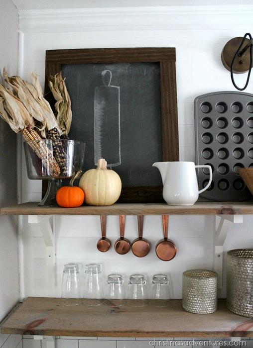 Fall open shelving kitchen
