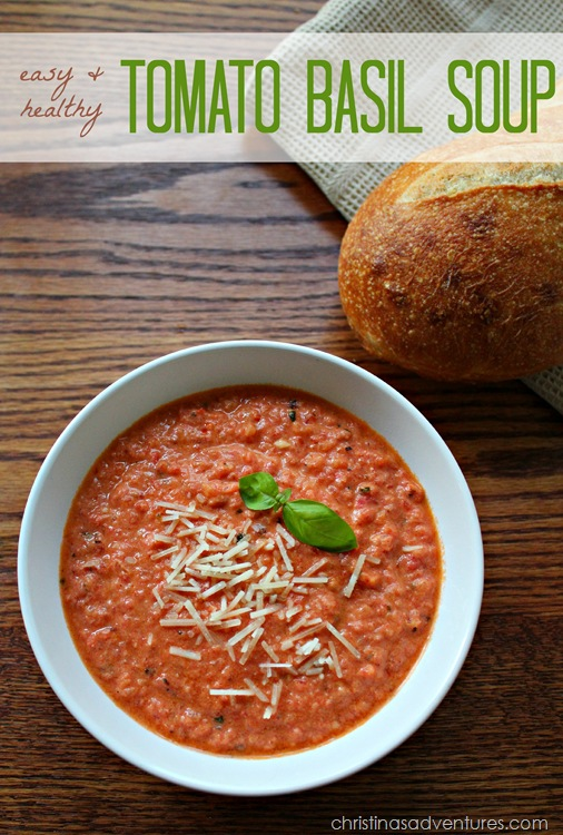 easy and healthy tomato basil soup recipe