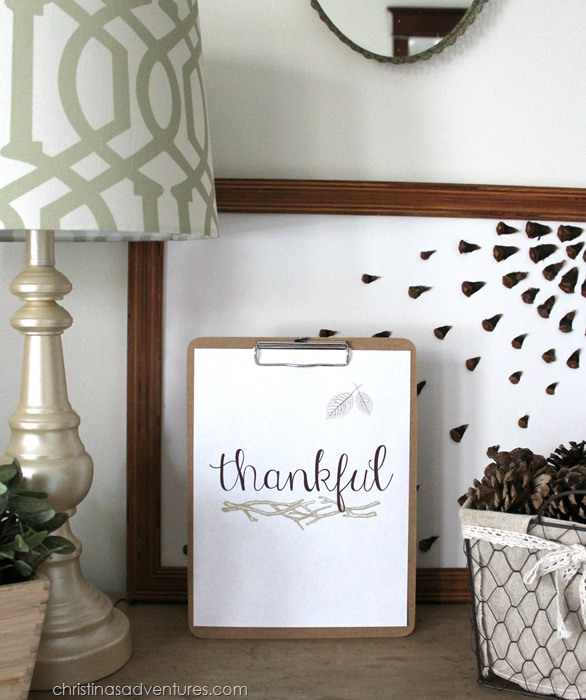 Free Thankful Print