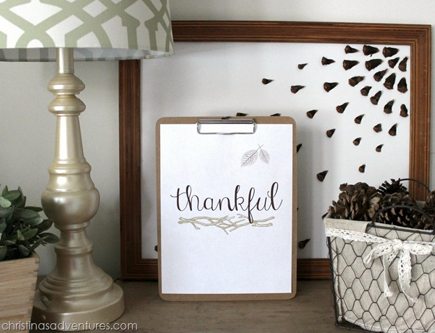 Thankful Print with branches