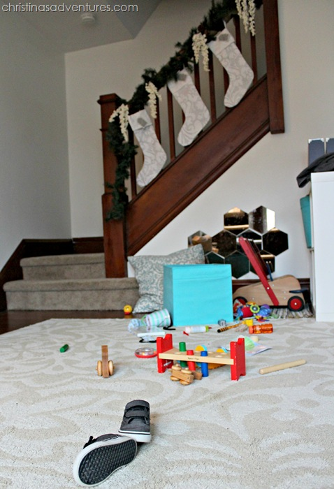 Christmas reality with a toddler