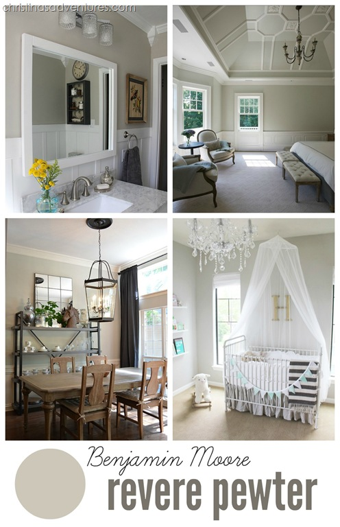 Choosing neutral paint colors for the new house Revere pewter benjamin moore