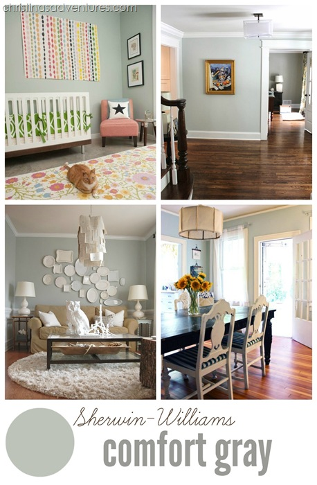 Choosing neutral paint colors for the new house - Sherwin williams comfort gray living room ...