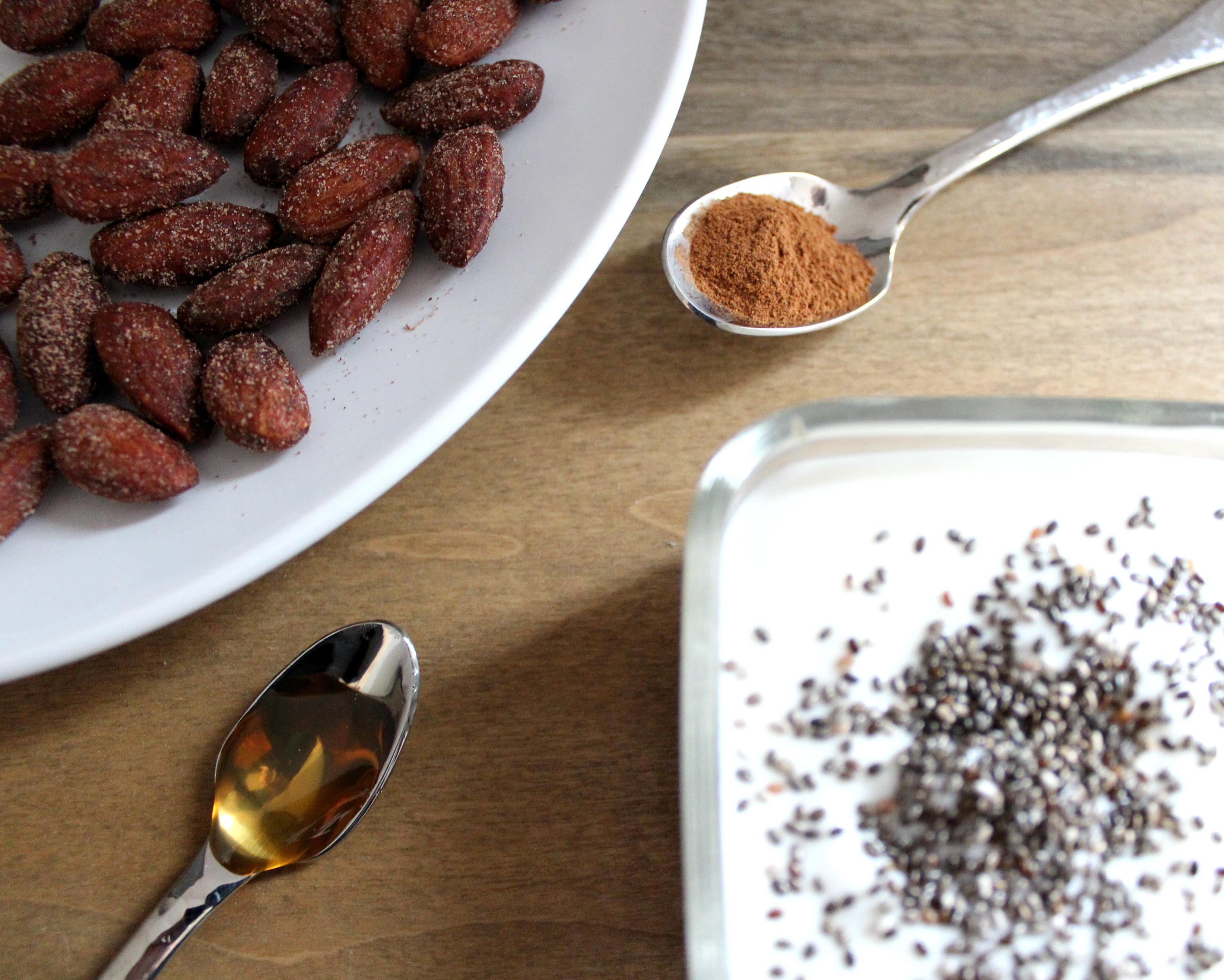 Protein Packed Snack: Honey Cinnamon Almond Yogurt