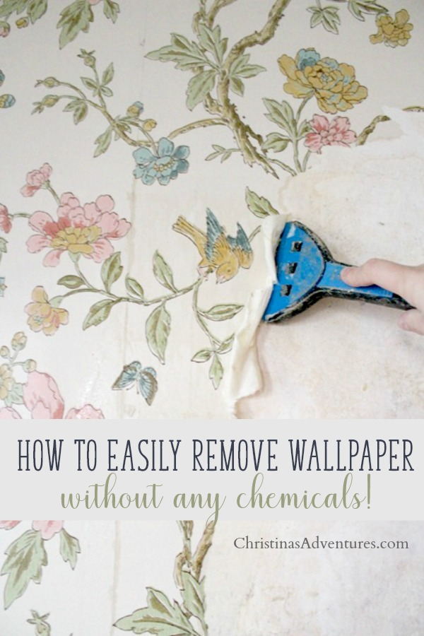 removing wallpaper from plaster walls without using any chemicals